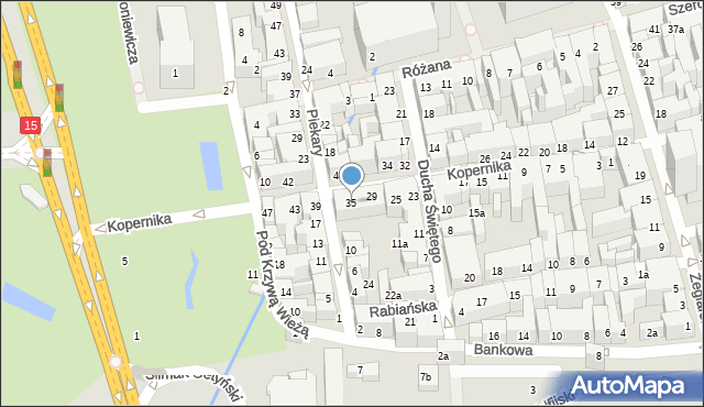 Toruń, Kopernika Mikołaja, 35, mapa Torunia