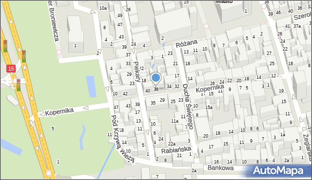Toruń, Kopernika Mikołaja, 38, mapa Torunia