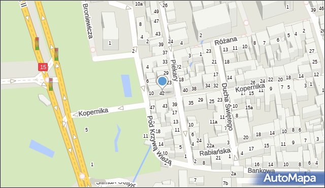 Toruń, Kopernika Mikołaja, 42, mapa Torunia