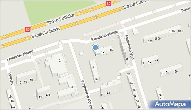 Toruń, Kosynierów Kościuszkowskich, 1, mapa Torunia