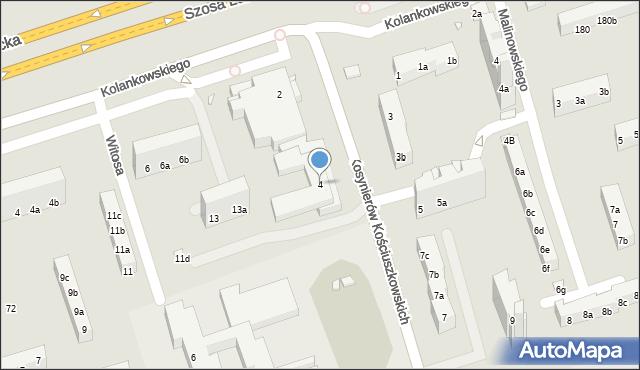 Toruń, Kosynierów Kościuszkowskich, 4, mapa Torunia