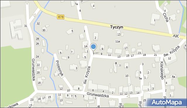 Tyczyn, Kościuszki Tadeusza, gen., 7, mapa Tyczyn