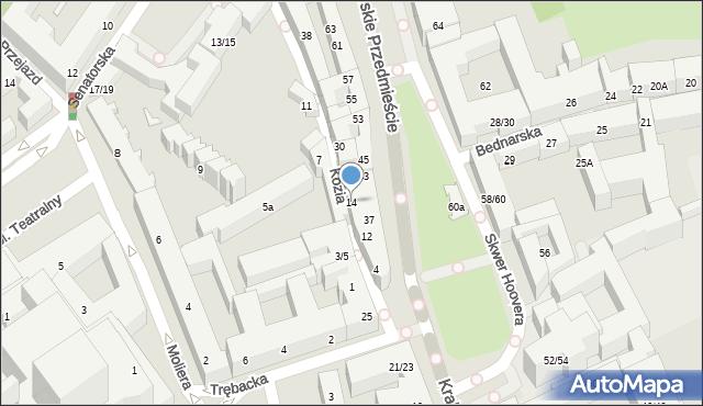Warszawa, Kozia, 14, mapa Warszawy