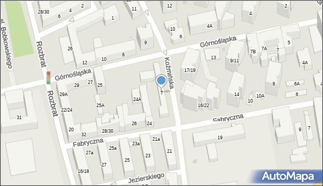 Warszawa, Koźmińska, 7, mapa Warszawy