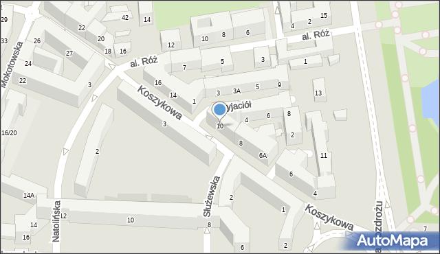 Warszawa, Koszykowa, 10, mapa Warszawy