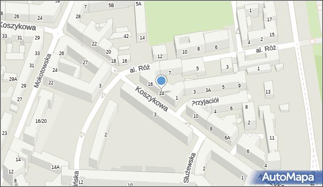 Warszawa, Koszykowa, 14, mapa Warszawy