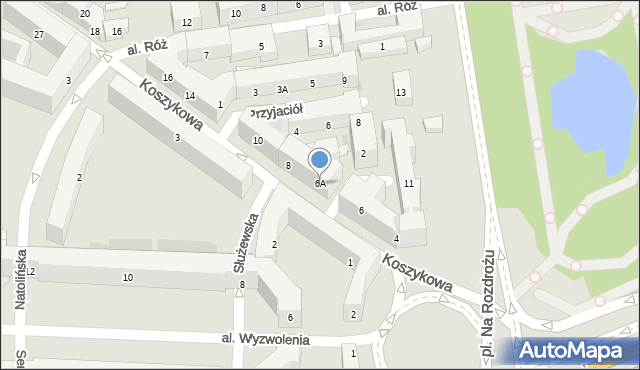 Warszawa, Koszykowa, 6A, mapa Warszawy
