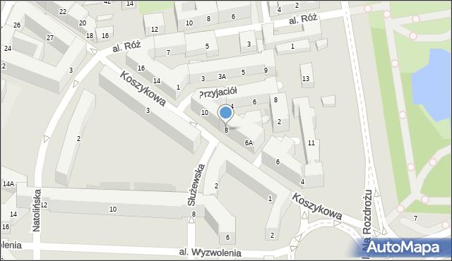 Warszawa, Koszykowa, 8, mapa Warszawy