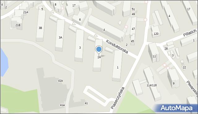 Warszawa, Konduktorska, 1A, mapa Warszawy