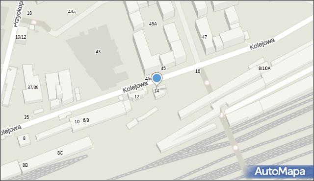 Warszawa, Kolejowa, 14, mapa Warszawy