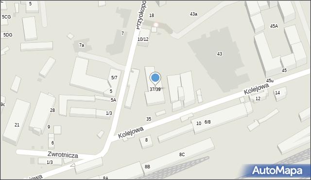Warszawa, Kolejowa, 37/39, mapa Warszawy