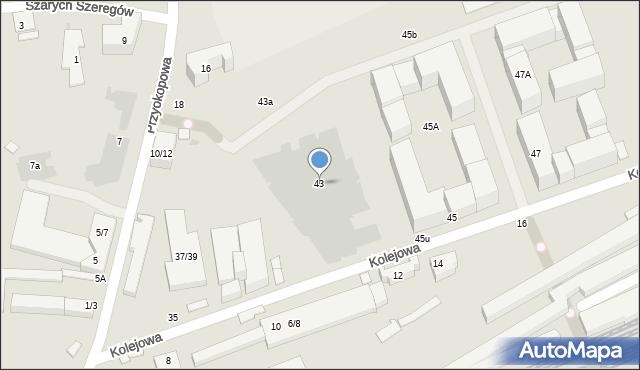 Warszawa, Kolejowa, 43, mapa Warszawy