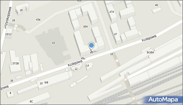 Warszawa, Kolejowa, 45, mapa Warszawy