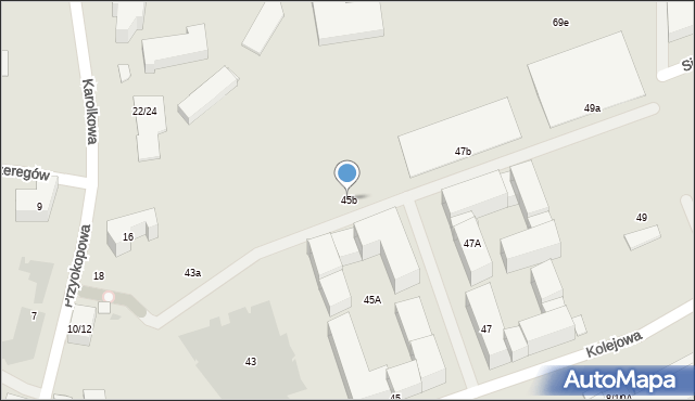 Warszawa, Kolejowa, 45b, mapa Warszawy