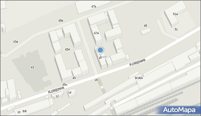 Warszawa, Kolejowa, 47, mapa Warszawy