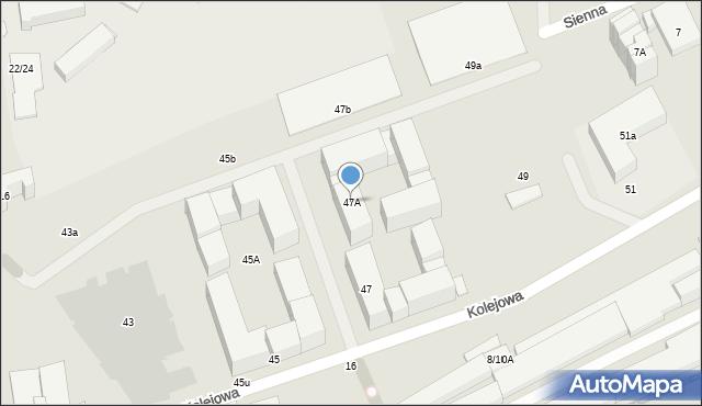 Warszawa, Kolejowa, 47A, mapa Warszawy