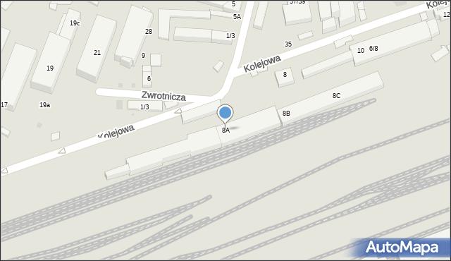 Warszawa, Kolejowa, 8A, mapa Warszawy