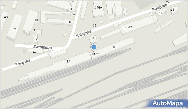 Warszawa, Kolejowa, 8B, mapa Warszawy