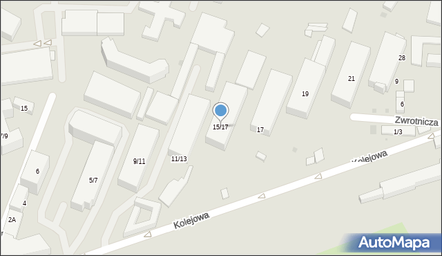 Warszawa, Kolejowa, 15/17, mapa Warszawy