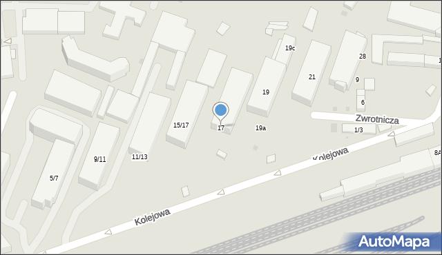 Warszawa, Kolejowa, 17, mapa Warszawy