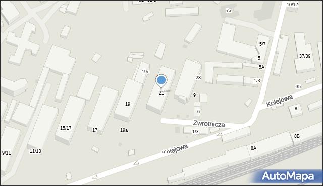 Warszawa, Kolejowa, 21, mapa Warszawy