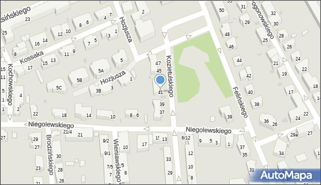 Warszawa, Kozietulskiego Jana Leona, płk., 41, mapa Warszawy