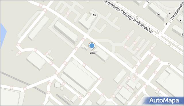 Warszawa, Komitetu Obrony Robotników, 45C, mapa Warszawy