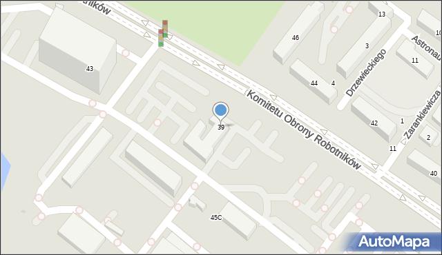 Warszawa, Komitetu Obrony Robotników, 39, mapa Warszawy
