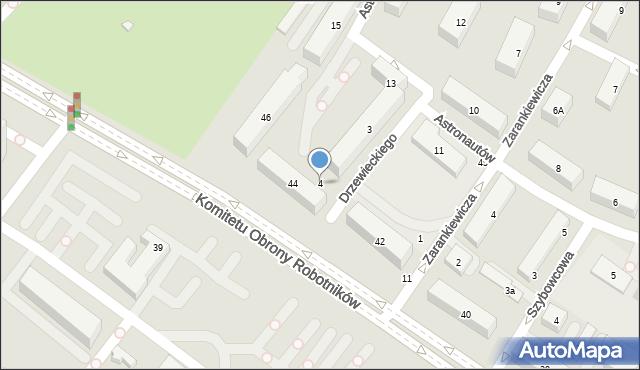 Warszawa, Komitetu Obrony Robotników, 4, mapa Warszawy