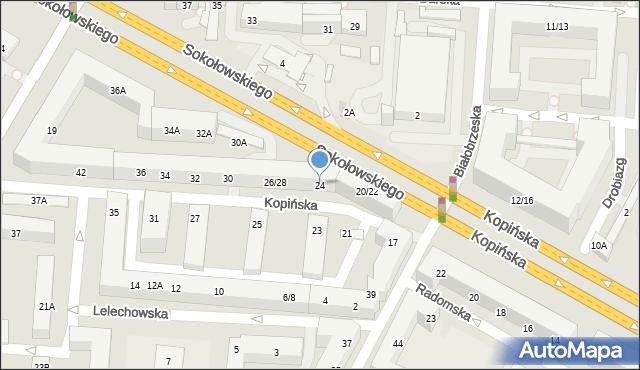 Warszawa, Kopińska, 24, mapa Warszawy