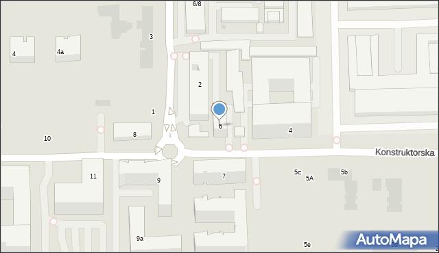 Warszawa, Konstruktorska, 6, mapa Warszawy