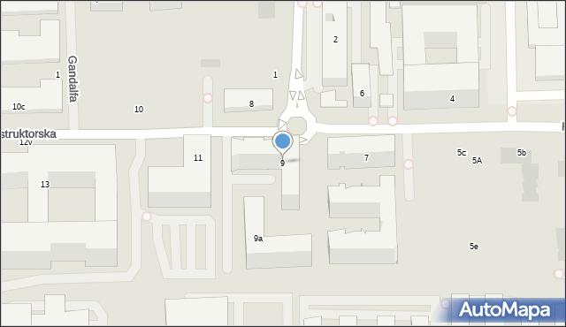 Warszawa, Konstruktorska, 9, mapa Warszawy