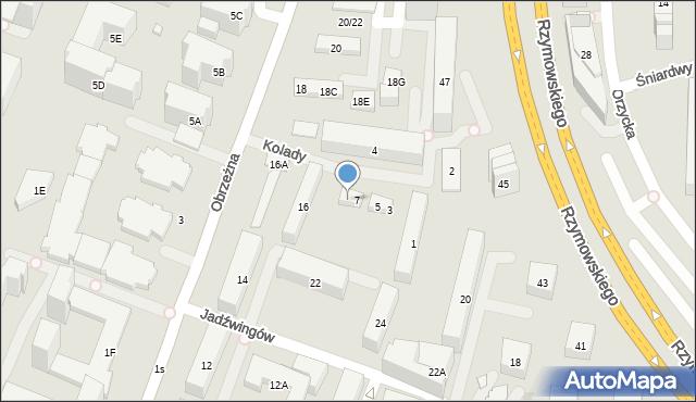 Warszawa, Kolady, 9, mapa Warszawy