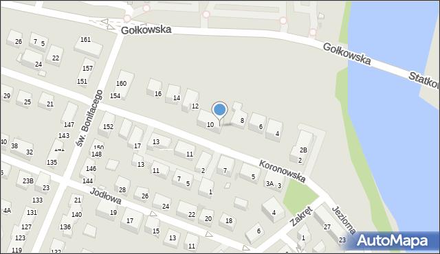 Warszawa, Koronowska, 10A, mapa Warszawy