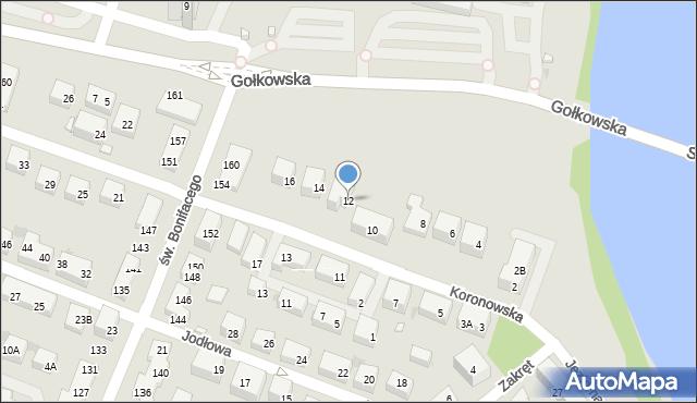 Warszawa, Koronowska, 12, mapa Warszawy