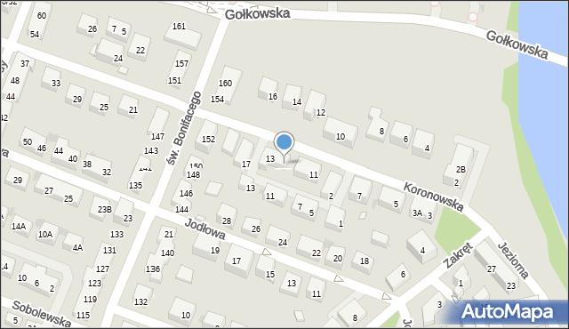 Warszawa, Koronowska, 13/1, mapa Warszawy