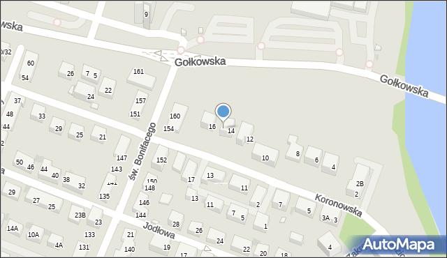 Warszawa, Koronowska, 14A, mapa Warszawy
