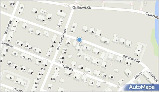 Warszawa, Koronowska, 15, mapa Warszawy