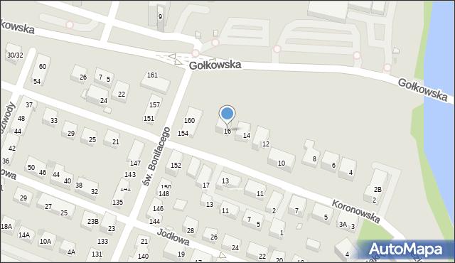 Warszawa, Koronowska, 16, mapa Warszawy