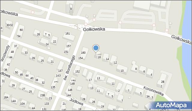 Warszawa, Koronowska, 16A, mapa Warszawy