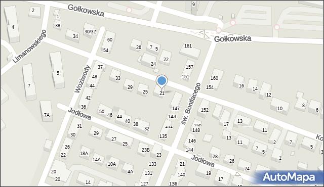 Warszawa, Koronowska, 21, mapa Warszawy