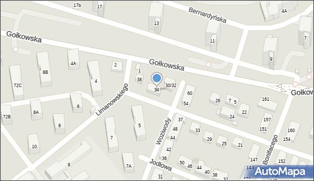 Warszawa, Koronowska, 34, mapa Warszawy