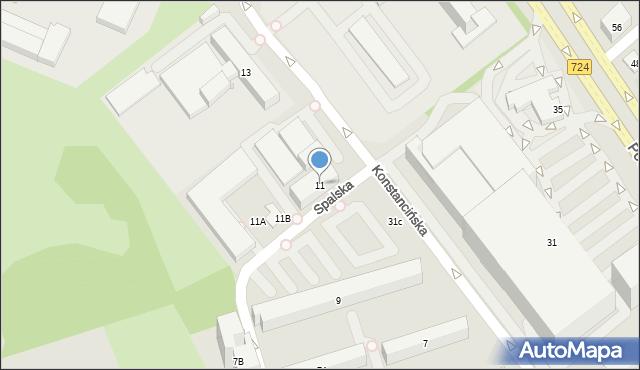 Warszawa, Konstancińska, 11, mapa Warszawy