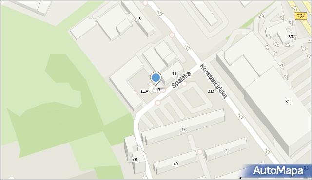 Warszawa, Konstancińska, 11B, mapa Warszawy