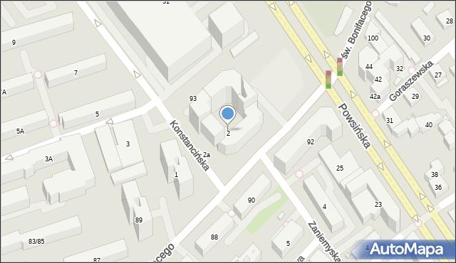 Warszawa, Konstancińska, 2, mapa Warszawy