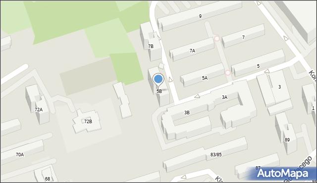 Warszawa, Konstancińska, 5B, mapa Warszawy