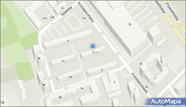 Warszawa, Konstancińska, 7, mapa Warszawy