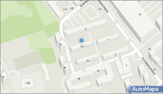 Warszawa, Konstancińska, 7A, mapa Warszawy