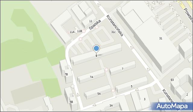 Warszawa, Konstancińska, 9, mapa Warszawy