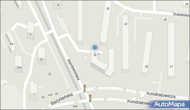 Warszawa, Kondratowicza Ludwika, 11, mapa Warszawy